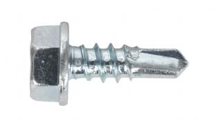 Sealey SDHX4213 Self Drilling Screw 4.2 x 13mm Hex Head Zinc DIN 7504K Pack of 100